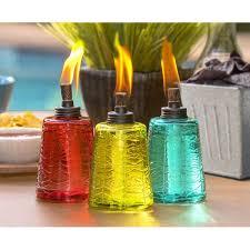 tikibrand glass tabletop torch u0026 reviews wayfair