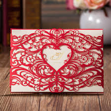 compare prices on red heart wedding invitations online shopping