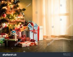 tree decorations gifts on stock photo 220087237