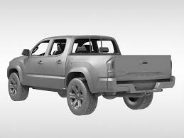 white toyota truck 3d model toyota tacoma 2016 cgtrader