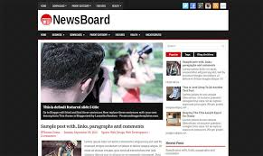 newsboard blogger template for news portal free magazine