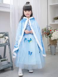 Elsa Costume Halloween Frozen Elsa Costume Cloak Kids U0027 Blue Hooded Cape