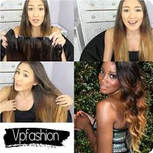 vpfashion hair extensions 20inches three tone ombre extensions hair for party