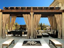 outdoor window treatments coverings for an intimate indoor feel