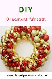 diy ornament wreath happily
