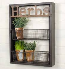 Garden Baskets Wall by Rustic Garden Laser Cut Metal Two Tier Herbs Rack With Removable