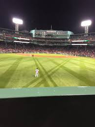Fenway Park Seating Map Fenway Park Section Bleacher 34 Row 1 Seat 15 Boston Red Sox