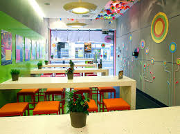 Corian table tops and stylish decor create an impressive refit for