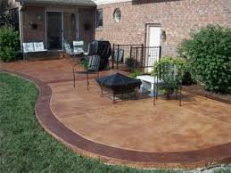 Stain Old Concrete Patio by Awesome Photograph Of Patio Resurfacing Furniture Ideas