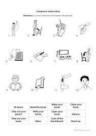 printable instructions classroom school instructions worksheet free esl printable worksheets made