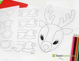 funky reindeer christmas craft teach starter blog
