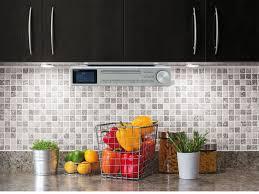 kitchen radio under cabinet eliteline ur2195si under cabinet bluetooth cd player fm dab