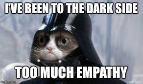 Meme Generator Grumpy Cat - grumpy cat star wars i ve been to the dark side too much empathy