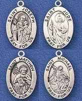 catholic pendants saints sterling silver medals necklace big selection catholic st