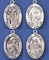 catholic necklace saints sterling silver medals necklace big selection catholic st