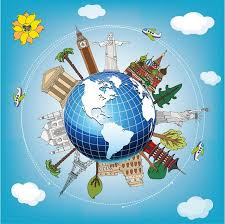 traveling around the world images Custom photo 3d ceiling murals wallpaper home decor painting jpg