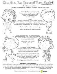 you are the boss of your body free downloadable coloring page to