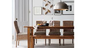 Crate And Barrel Dining Table Tigris Natural Woven Side Chair Cushion Crate And Barrel