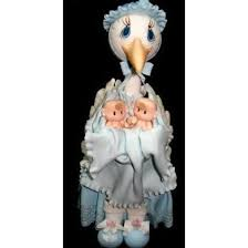stork cake topper baby shower stork with babies cake topper