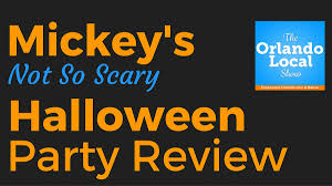 mickey u0027s not so scary halloween party review for 2016