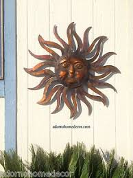 large metal sun wall decor rustic garden art indoor outdoor patio