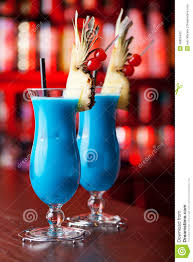 blue hawaiian cocktail cocktails collection blue hawaiian stock photo image 48856400