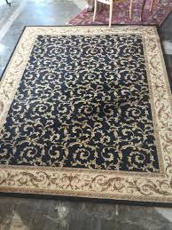 Black And Gold Rug 8x10 Black Gold And Maroon Scroll Design Area Rug Invio Fine
