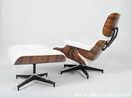 eames lounge chair u0026 ottoman white leather palisander eames chair