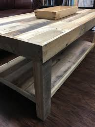 Wood Plank Shelves by Pallet Wood Coffee Table With Lower Shelf