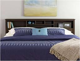 king size modern panel bed with bookcase headboard storage bedroom
