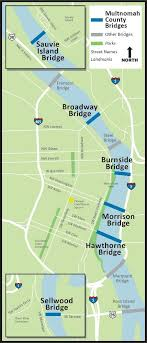 bridges of county map willamette river bridges map multnomah county