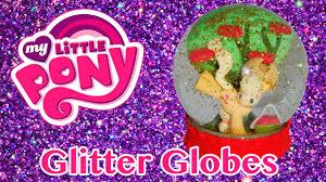 diy custom mlp glitter snow globes my little pony applejack youtube
