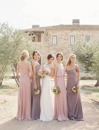 dusty bridesmaid dress picture of pink and dusty lavender mix and match bridesmaids dresses