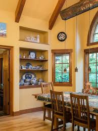english craftsman dining room with high end architect seattle home