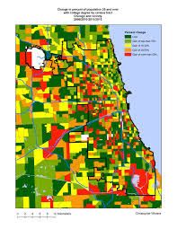 Maps Of Chicago by The Recent Geography Of Gentrification In Chicago Liberal Landscape