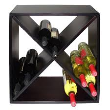 amazon com vinotemp vt diamondbin wood wine rack cube 24 bottle