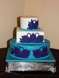 rock star pastries purple u0026 teal wedding cake