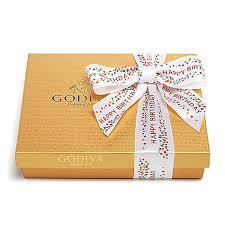 happy birthday ribbon assorted chocolate gold gift box happy birthday ribbon 19 pc godiva