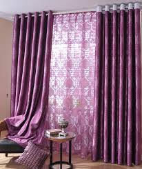 White And Purple Curtains Two Parts Purple Curtains For Decorating Ideas