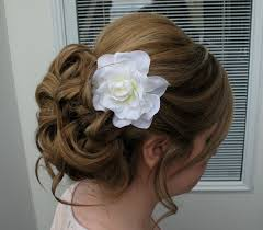 bridal hair clip wedding hair accessories white gardenia bridal hair clip