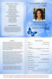 memorial service programs a4 paper service sheets a4 butterfly funeral service program