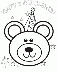 free happy birthday coloring pages coloring home