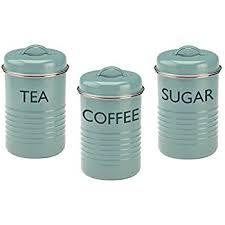 kitchen tea coffee sugar canisters amazon com typhoon vintage kitchen tea coffee sugar canisters