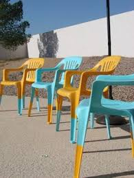 Outdoor Furniture Plastic Chairs by See How I Painted Plastic Outdoor Chairs Painting Plastic