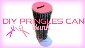diy pringles can piggy bank so simple youtube