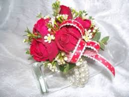 red spray roses wrist corsage in saint johnsbury vt all about
