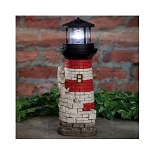 solar spinning beacon lighthouse water garden lawn