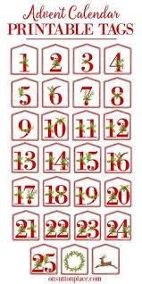 christmas advent calendario freebie printable etiquetas para