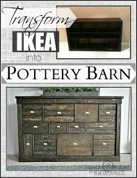 apothecary drawers ikea transform ikea cubbies into a pottery barn console ikea makeover