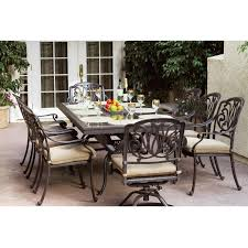 Outdoor Patio Furniture Sets Costco by Dining Tables Hexagon Patio Table Patio Furniture Costco 9 Piece